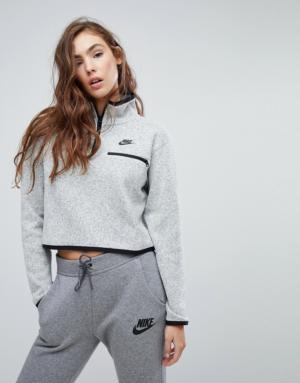 Nike – Pull en tricot à enfiler avec demi fermeture éclair – Multi