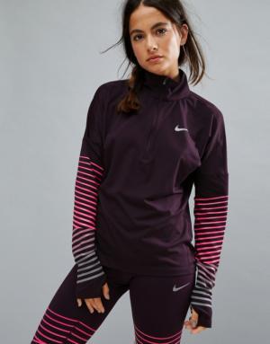 Nike Running – Dry Element – Top à demi fermeture-éclair – Noir – Noir