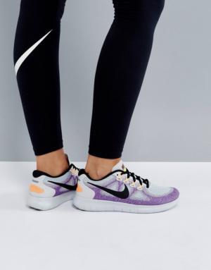 Nike Running – Free Run 2 – Baskets – Blanc