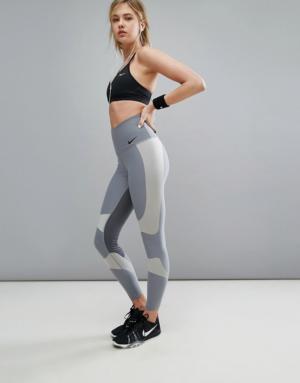 Nike Running – Power Legend – Leggings – Gris – Gris