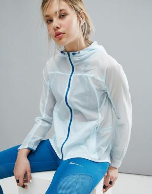 Nike Running – Veste à capuche – Bleu