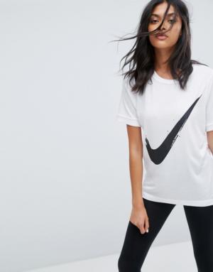 Nike – T-shirt logo virgule – Blanc