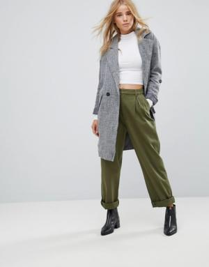 Only – Benita – Manteau long oversize – Gris