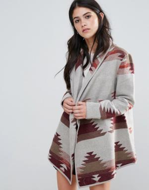 Only – Cloud Spring – Veste légère en laine mélangée – Rouge