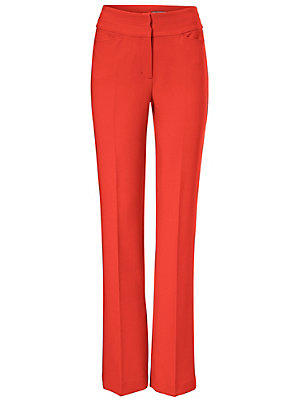 Pantalon à taille haute femme Ashley Brooke rouge