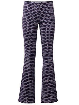 Pantalon élastiqué bootcut à motif rétro pour femme femme Rick Cardona multicolore