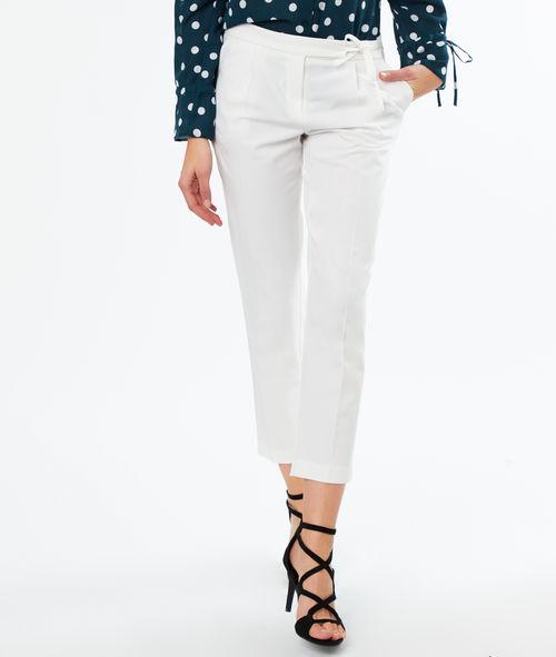 Pantalon droit ceinturé Etam