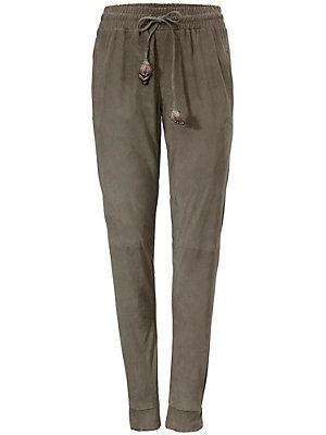 Pantalon en cuir, porc velours femme B.C. Best Connections écru