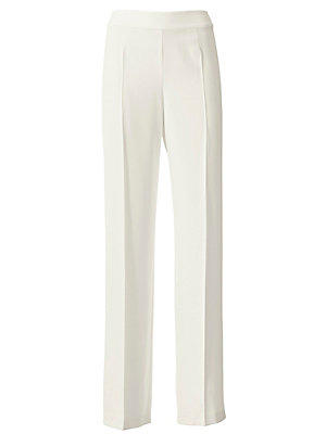 Pantalon fluide blanc femme Ashley Brooke blanc