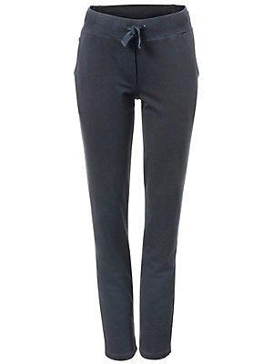Pantalon fluide en stretch, ceinture élastique femme B.C. Best Connections bleu