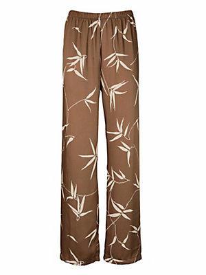 Pantalon imprimé femme Ashley Brooke marron