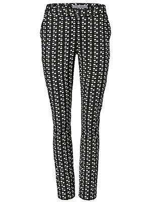 Pantalon imprimé femme Ashley Brooke noir