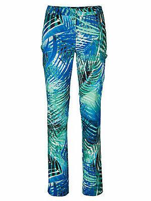 Pantalon imprimé femme Ashley Brooke vert
