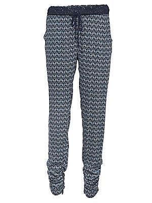 Pantalon imprimé femme Rick Cardona bleu
