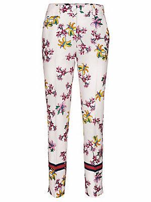 Pantalon imprimé femme Ashley Brooke blanc