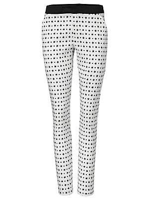 Pantalon imprimé femme Rick Cardona blanc