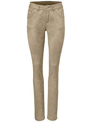 Pantalon jacquard femme B.C. Best Connections écru