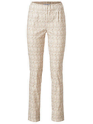 Pantalon slim imprimé femme Ashley Brooke écru