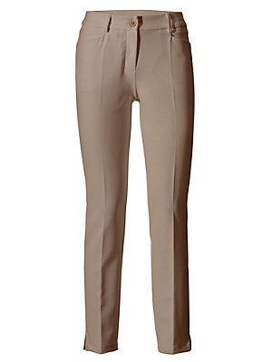 Pantalon stretch Bodyform femme Ashley Brooke écru