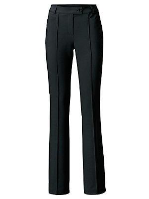Pantalon stretch coupe droite femme Ashley Brooke noir