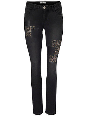 Pantalon tube femme Rick Cardona noir