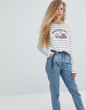 Pepe Jeans – Greetings From Paradise – T-shirt à manches longues – Multi