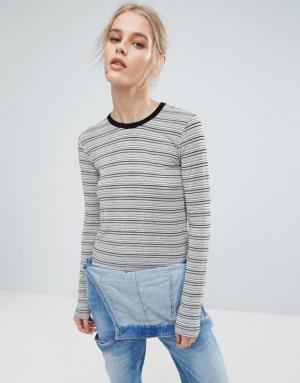 Pepe Jeans – Pat – Top rayé à manches longues – Navy