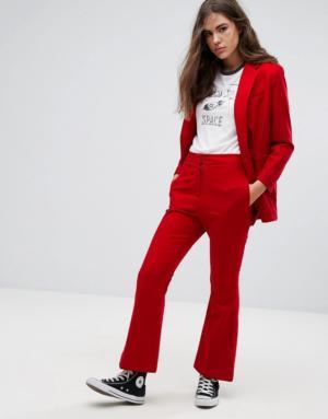 Pepe Jeans – Sunset – Pantalon ajusté avec étiquette dorée – Rouge