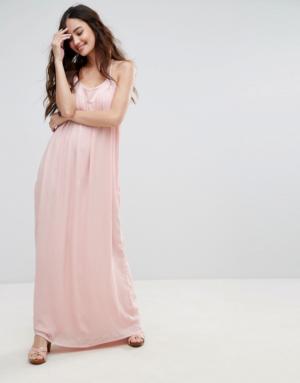 Pimkie – Robe longue caraco – Rose