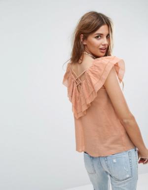 Pimkie – Top à volants et détail dos – Orange