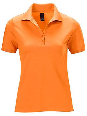 Polo uni à manches mi-longues et maille piquée femme B.C. Best Connections orange