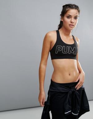 Puma – Powershape Forever – Soutien-gorge à inscription Puma – Noir – Noir