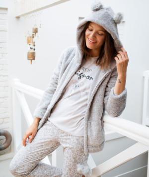 Pyjama 3 pièces à message Etam