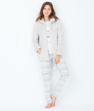 Pyjama 3 pièces, veste toucher polaire Etam