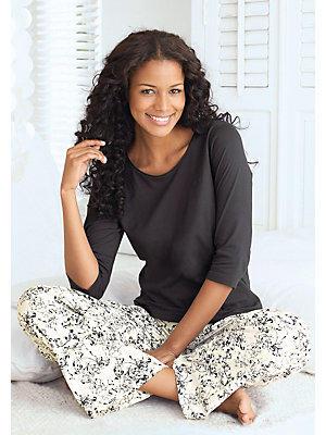 Pyjama femme, pantalon à imprimé fleuri femme S.OLIVER RED LABEL noir