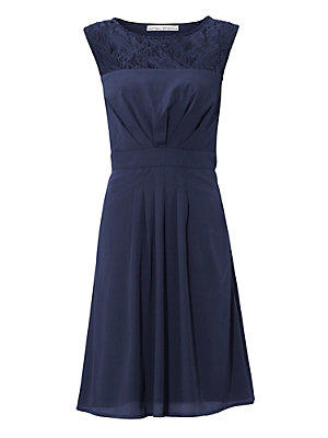 Robe de cocktail femme Ashley Brooke bleu