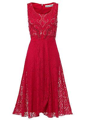 Robe de cocktail femme Ashley Brooke rouge