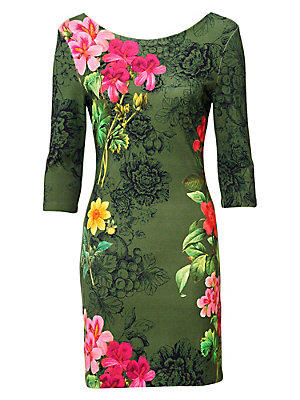 Robe imprimée femme Desigual vert