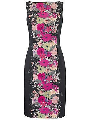Robe imprimée fleurie noire et rose femme Ashley Brooke noir