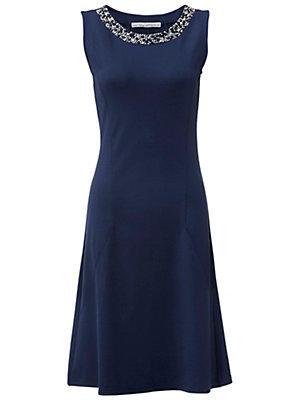 Robe sans manche bleu marine femme Ashley Brooke bleu