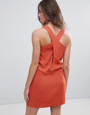 See U Soon – Robe nuisette à dos croisé – Rouge