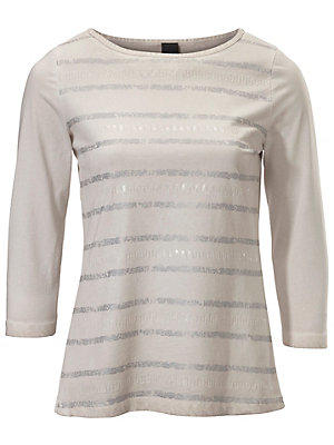 T-shirt à encolure arrondie femme B.C. Best Connections écru