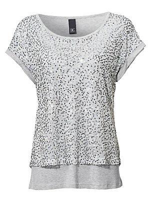 T-shirt à encolure arrondie femme B.C. Best Connections gris