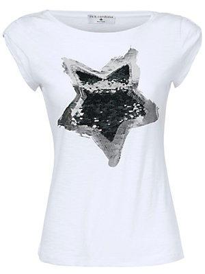 T-shirt à encolure arrondie femme Rick Cardona blanc