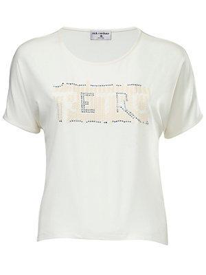 T-shirt à paillettes femme Rick Cardona blanc
