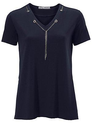 f07312fd630 T-shirt avec chaine décorative femme Ashley Brooke bleu