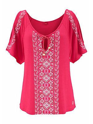 T-shirt de plage s.Oliver RED LABEL Beachwear femme S.OLIVER RED LABEL rouge
