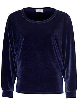 T-shirt en velours femme Rick Cardona bleu