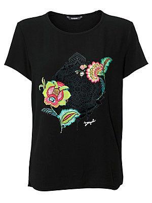 T-shirt femme Desigual noir