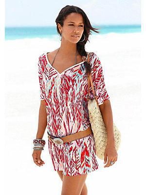 T-shirt long s.Oliver RED LABEL Beachwear femme S.OLIVER RED LABEL blanc